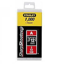 Скобы для степлера 12мм тип A STANLEY (1-TRA208T) 1000 шт.