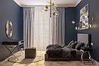 Двоспальне ліжко  у високоякісній таканині сірого кольору Шик Галичина Лайт, фото 2
