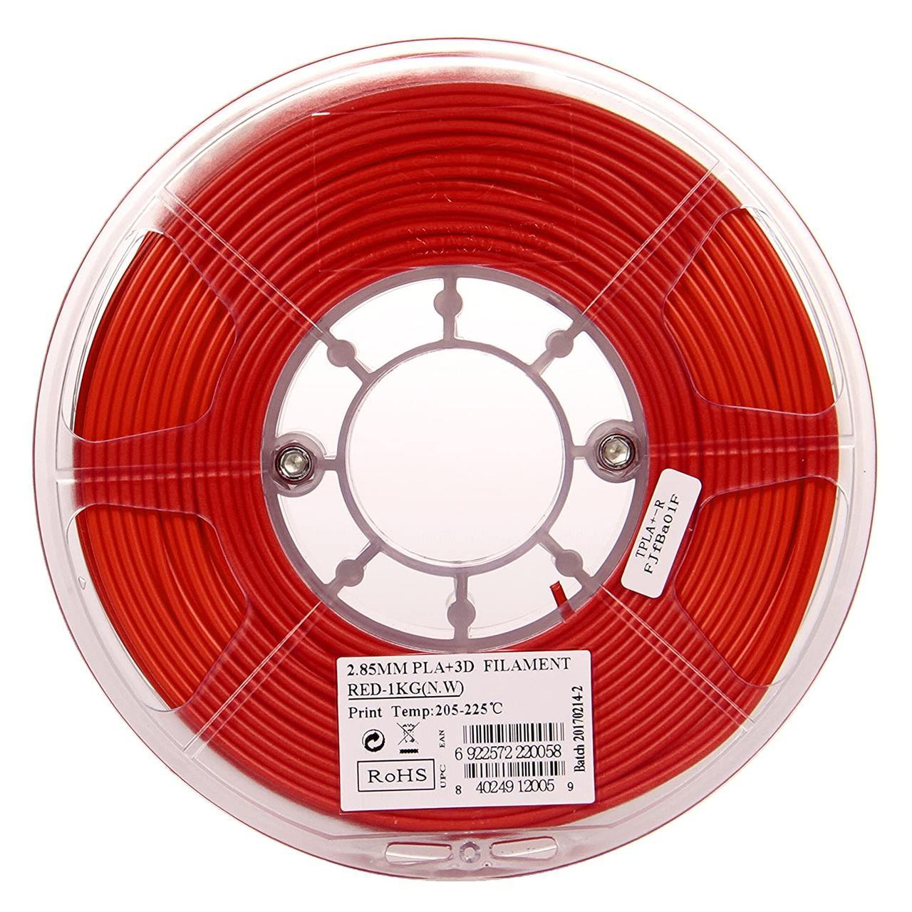 Пластик в котушці PLA PolyLite 2,85 мм, Polymaker, 1кг червоний