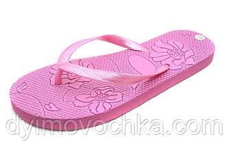 Шлепанцы для девочки Calypso розовые цветы 11-11-00284, р. 36 - 41