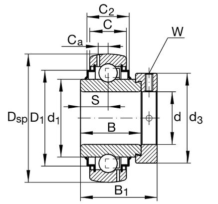 Підшипник G1104 KRRB AS2/V       INA, фото 2