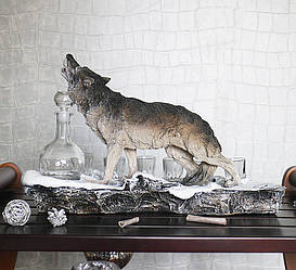 Штоф волк Вожак ШП410цв