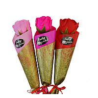 Мыло сувенирное Роза на ножке в упаковке