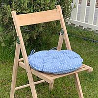 Подушка на стул Кедр на Ливане круглая стеганная серия Joy 40x40x5