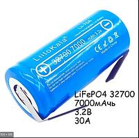 Аккумулятор высоко-токовый 32700 литий железно фосфатный LiFePO4 7000 mah 35A Оригинал
