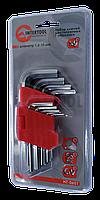 Ключі шестигранні 9шт 1,5-10 мм CrV (короткі), фото 1