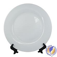 Тарелка керамическая белая, D - 270 мм (площадь запечатки d-150 мм)