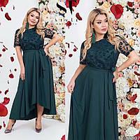 Платье ассиметричное платье в пол больших размеров 50-56