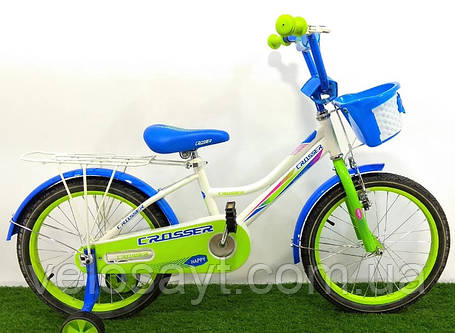 """Дитячий велосипед Crosser Happy 16"""" зелений, фото 2"""