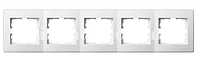 Lezard LESYA рамка 5-ая горизонтальная белая