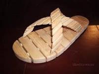 Тапочки деревянные для саун и бань