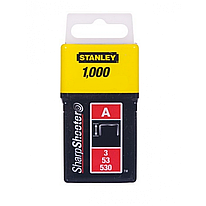 Скобы для степлера 8мм тип A STANLEY (1-TRA205T) 1000 шт.