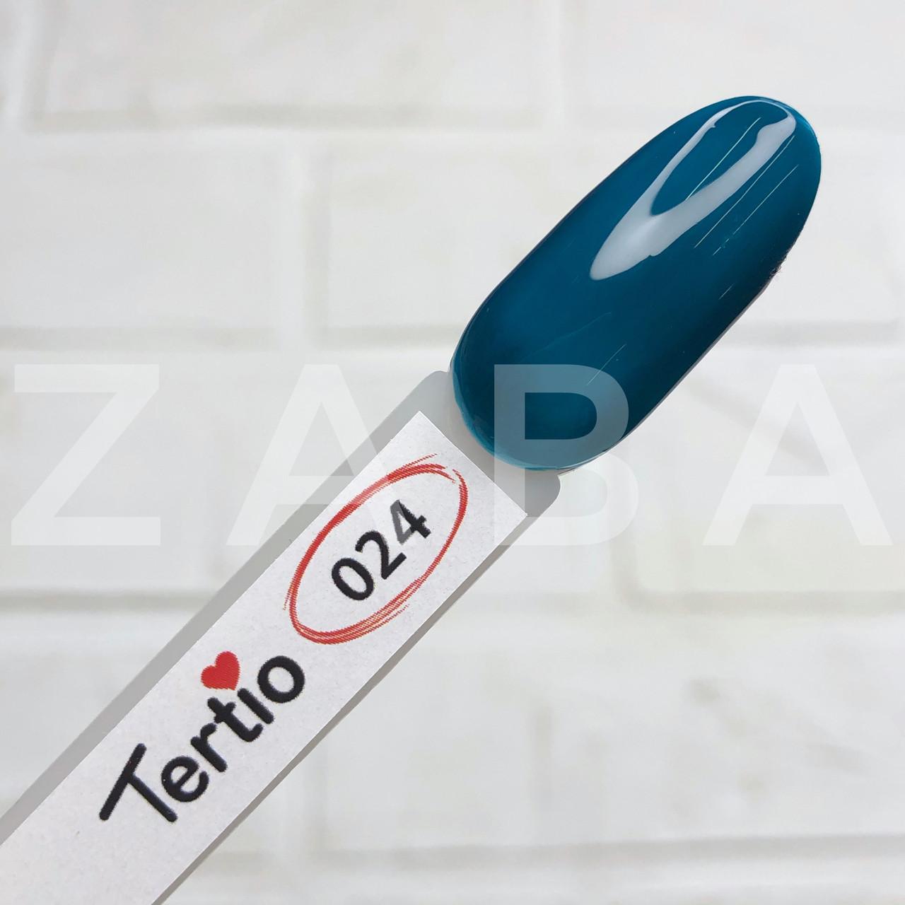 Гель-лак Tertio №024 - темно-зеленый, 10 мл
