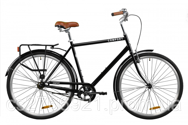 "Велосипед ST 28"" Dorozhnik COMFORT MALE рама-22"" серый с багажником зад St, с крылом St 2020, фото 2"