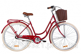 """Велосипед ST 28"""" Dorozhnik RETRO планет. рама-19"""" белый с багажником зад St, с крылом St, с корзиной Pl 2020, фото 2"""