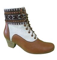 """Этно-ботинки женские из конопли """"Ламия"""" автентик коричневий орнамент"""