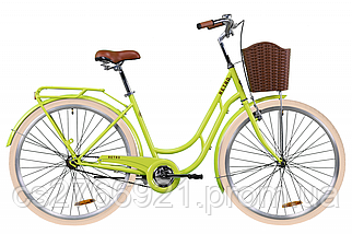 "Велосипед ST 28"" Dorozhnik RETRO рама-19"" рубиновый с багажником зад St, с крылом St, с корзиной Pl 2020, фото 2"