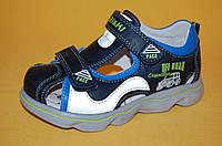 Детские Босоножки Bi&Ki Китай 00672 Для мальчиков Синий размеры 27_32, фото 1