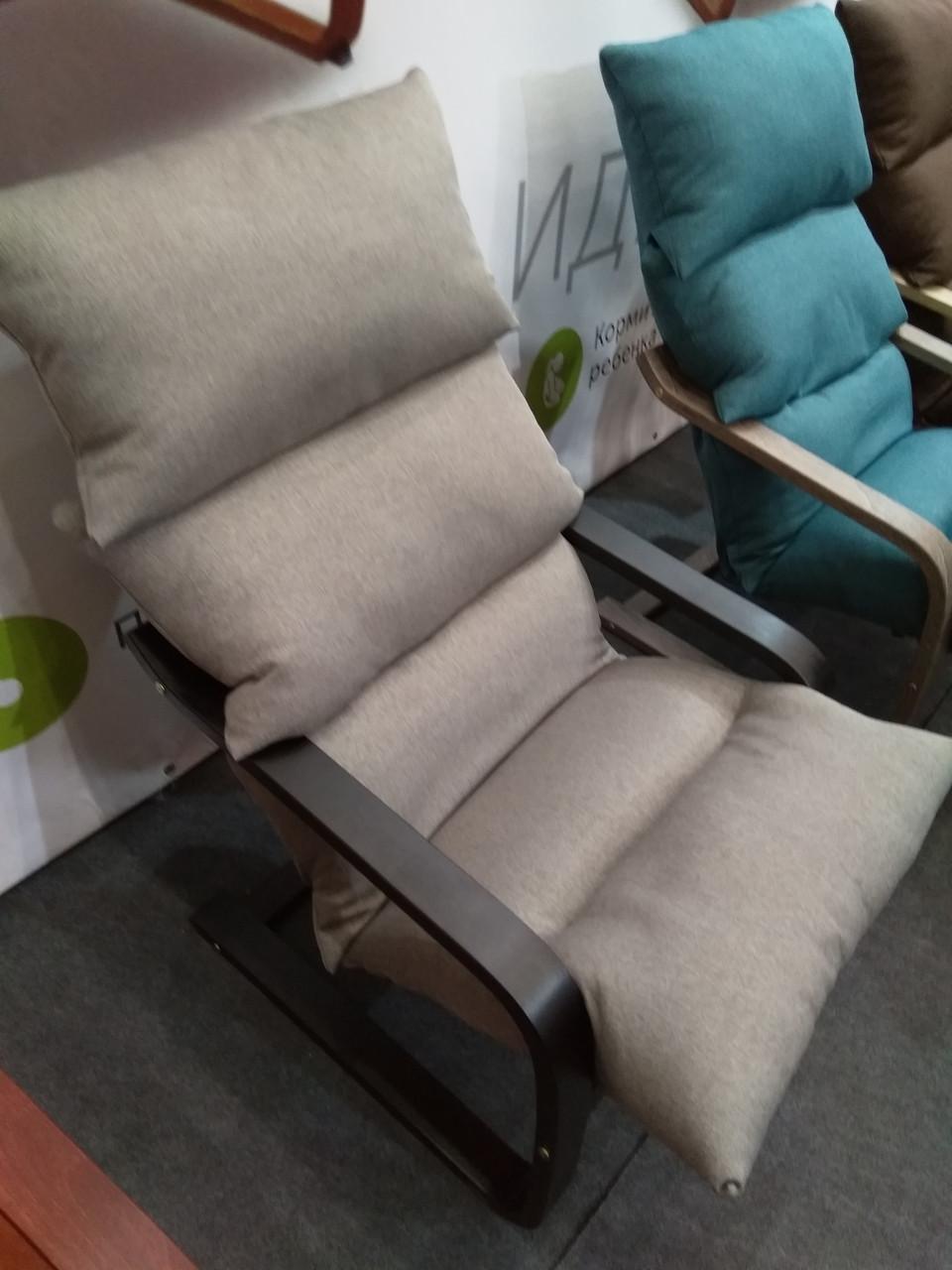 Лаундж кресло Супер Комфорт Стандарт с эффектом покачивания, серая 091 ткань
