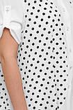 Двойной блузон Любава  черный горох, фото 6