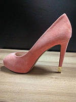 Туфли женские коралловые замшевыеGuess, фото 1