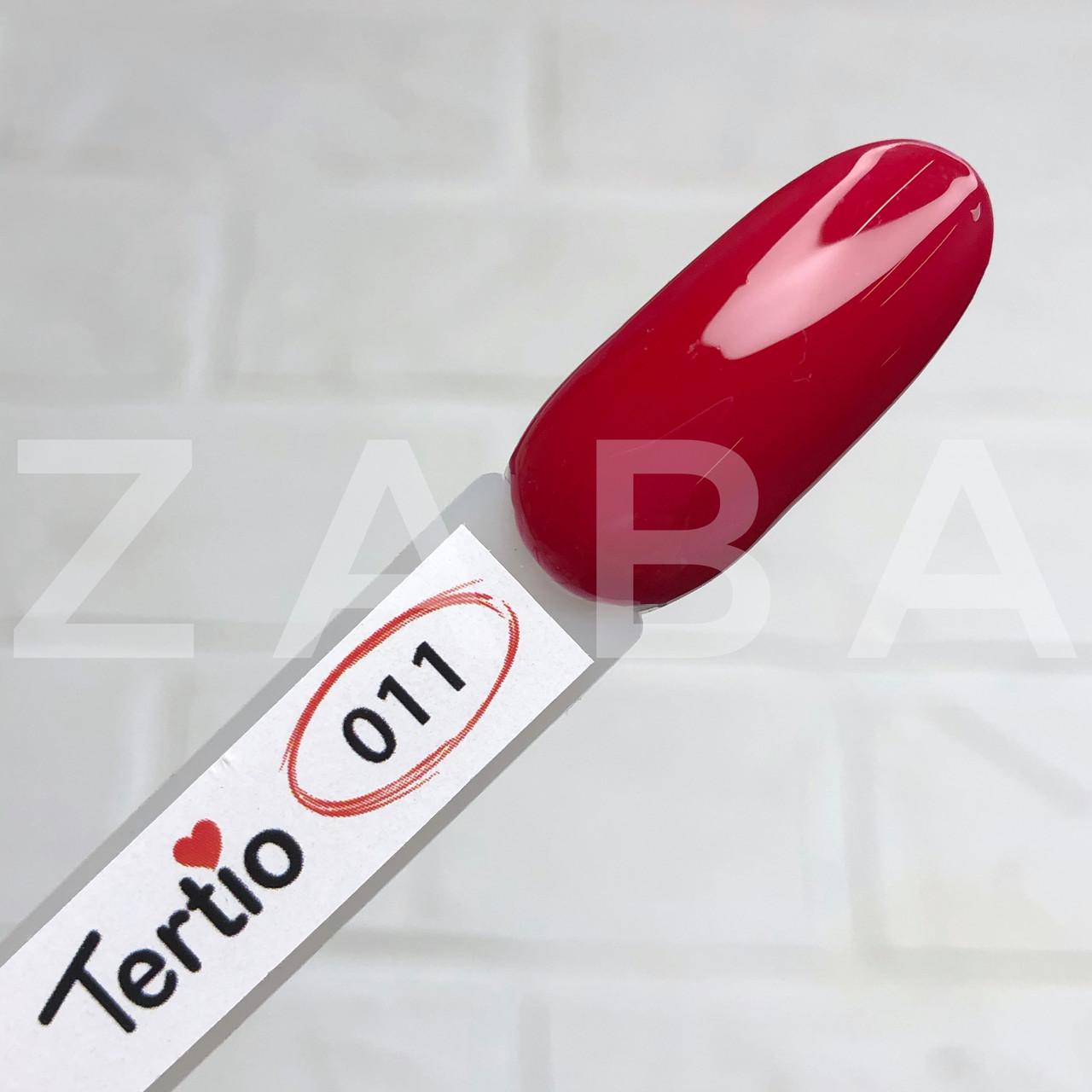 Гель-лак Tertio №011 - темно-красный, 10 мл