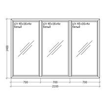 Металлопластиковое ПВХ окно, 2100x1400, GoodWin VEKA Euroline 60, глухое