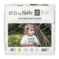 Органические подгузники Eco by Naty Размер 4+ (от 9 до 20 кг) 24 шт