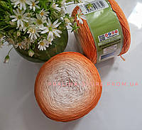 Хлопковая пряжа Ализе Белла омбре BELLA OMBRE BATİK оранжевого цвета 7403