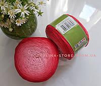 Хлопковая пряжа Ализе Белла омбре BELLA OMBRE BATİK красного цвета 7404