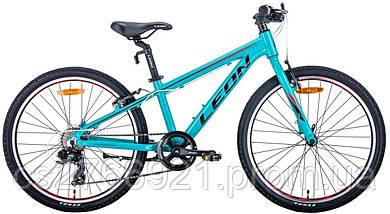 """Велосипед AL 24"""" Leon JUNIOR Vbr рама-12,5"""" антрацитовый с красным (м) 2020, фото 3"""