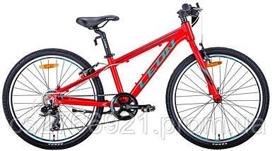 """Велосипед AL 24"""" Leon JUNIOR Vbr рама-12,5"""" антрацитовый с красным (м) 2020, фото 2"""