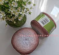 Хлопковая пряжа Ализе Белла омбре BELLA OMBRE BATİK коричневого цвета 7410