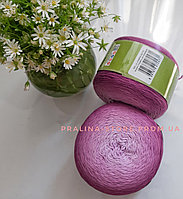 Хлопковая пряжа Ализе Белла омбре BELLA OMBRE BATİK розового цвета 7429
