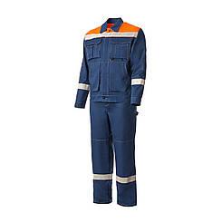 Костюм рабочий (куртка + штаны). Синий, 100% хлопок. Спецодежда 54