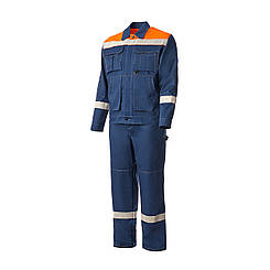 Костюм рабочий (куртка + штаны). Синий, 100% хлопок. Спецодежда 56