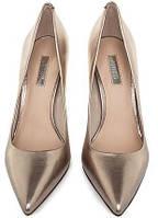 Туфли женские кожаные золотистыеGuess, фото 1