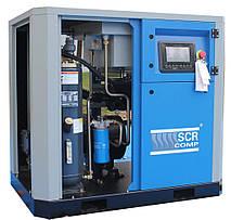 Компресор SCR 50 РМ (37 кВт, 1.28 - 6.4 м3/хв) прямий привід, частотник, двигун на постійних магнітах, фото 3