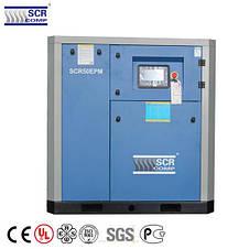 Компресор SCR 50 РМ (37 кВт, 1.28 - 6.4 м3/хв) прямий привід, частотник, двигун на постійних магнітах, фото 2