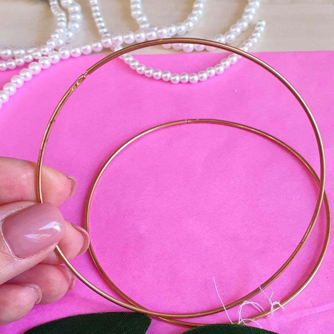 Крупные серьги конго в позолоте диам. 80 мм - Серьги-кольцами серебро с позолотой
