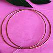Великі сережки конго в позолоті діам. 80 мм - Сережки-кільцями срібло з позолотою, фото 3