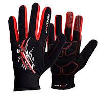 Рукавички для бігу PowerPlay 6607 Чорно-Червоні L
