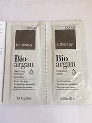 Набор пробников шампунь и маска LAKME K.Therapy Bio-argan 2 шт по 10 мл