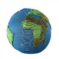 Скульптурный 3D пазл из картона Планета Земля PZ51