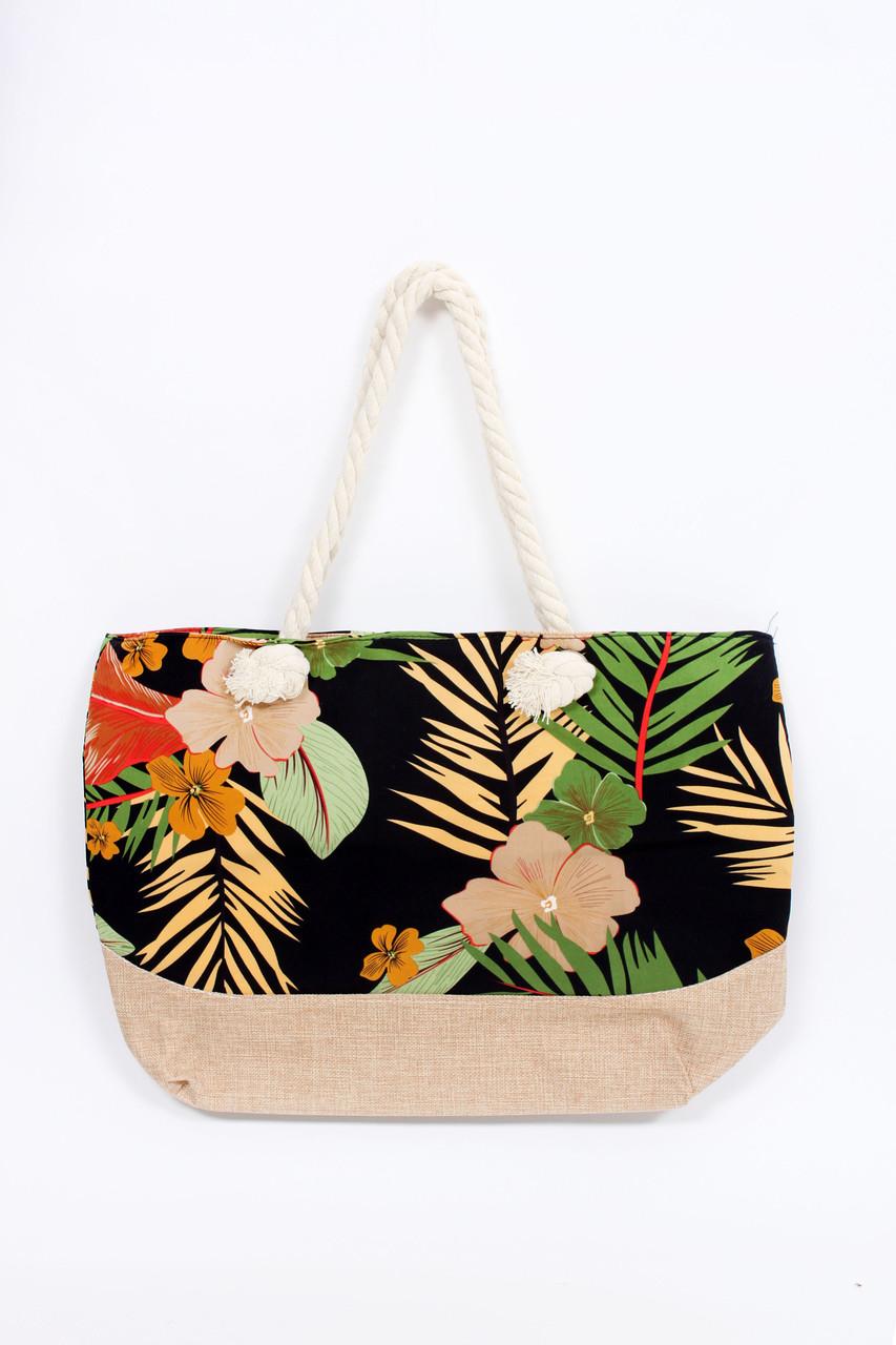 Универсальная женская сумка для пляжа в яркой расцветке