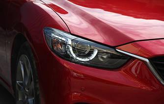 Передние фары Mazda 6 GJ (12-16) тюнинг Led оптика стиль touring (линза под ксенон)