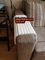 Деревянная накладка-подлокотник (400х400) белого цвета