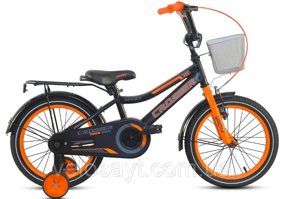 "Дитячий велосипед Crosser Rocky 14"" помаранчевий"