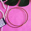 Сережки конго срібло з позолотою діам. 70 мм - Великі сережки-кільця в позолоті 70 мм, фото 2
