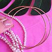 Сережки конго срібло з позолотою діам. 70 мм - Великі сережки-кільця в позолоті 70 мм, фото 3